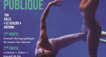 2ème évaluation artistique des élèves de la section danse de l'IPES Tournai ce soir!