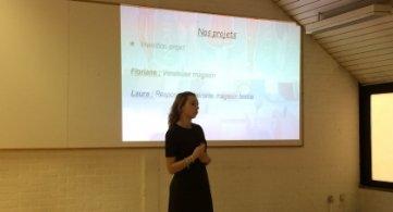 De jeunes entrepreneurs à l'Athénée provincial de Leuze