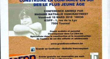 Conférence : « Construire la confiance en soi dès le plus jeune âge » - IESPP Tournai