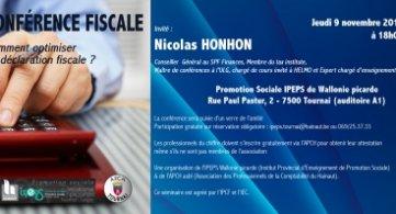 Conférence fiscale de Nicolas Honhon à l'IPEPS Wapi